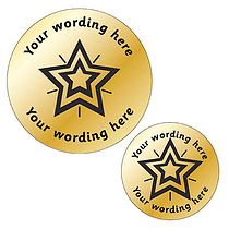 Customised Metallic Gold Star Stickers