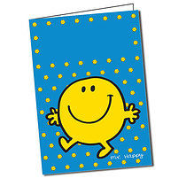 Customised Mr Happy Greeting Card (A5)