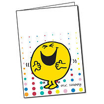 Customised Mr Men Mr Happy Greeting Card (A5)