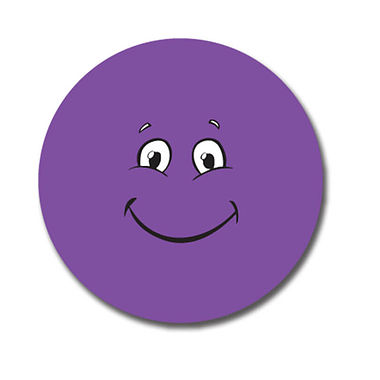 Customised Purple Face Stickers (70 per sheet - 25mm)