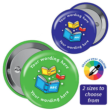 Customised Reading Badges (10 Badges)