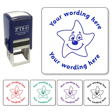 Customised Smiley Star Stamper (25mm)