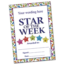 Customised Star of the Week Certificate (A5)