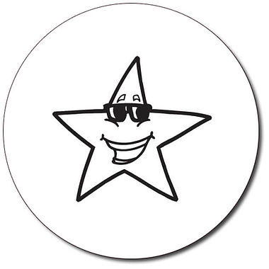 Customised Star Stamper - Black Ink (25mm)