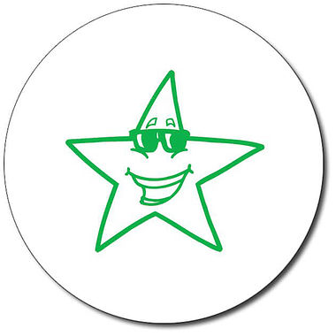 Customised Star Stamper - Green Ink (25mm)