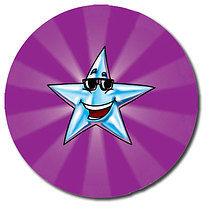 Customised Star Stickers - Rays (35 per sheet - 37mm) 5f6c84fc8