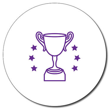 Customised Trophy Stamper - Purple Ink (25mm)
