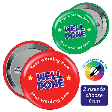 Customised Well Done Badges (10 Badges)