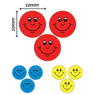 Smiley Stickers (196 Stickers - 10mm)
