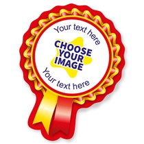 Design Your Own Rosette Stickers (16 Stickers - 44mm x 58mm)