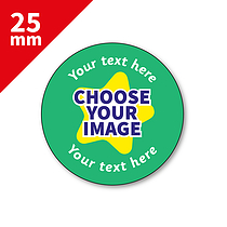 Design Your Own Stickers (70 Stickers - 25mm) Brainwaves