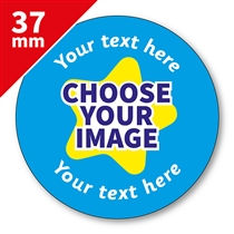 Design Your Own Stickers with Logo (35 Stickers - 37mm)
