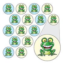 Diddi Dot Green Frog Stickers (196 Stickers - 10mm)