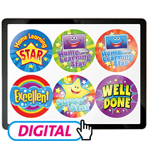 Digital Home Learning Sticker Pack (12 designs)FOLLOW by Email WITHIN 24 hrs