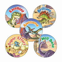 Dinosaur Stickers (30 Stickers - 25mm)