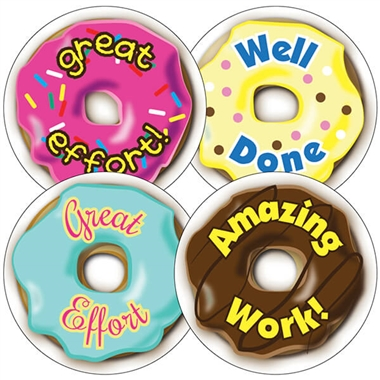 Doughnut Stickers - UNSCENTED VERSION (35 Stickers - 37mm)