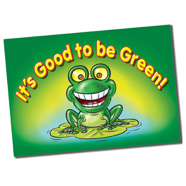 its good to be green plastic poster a1 wall posters