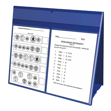 Worksheet Holder - Blue (A3 Size - Double Sided)