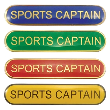 Sports Captain Enamel Badge (45mm x 9mm)