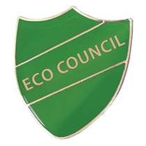 Eco Council Shield Badge - Enamel (Green) DUE BACK IN END OF OCTOBER