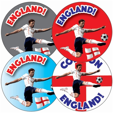 England World Cup Football Stickers (35 Stickers - 35mm)