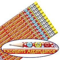 Excellent Attendance Foil Pencils (12 Pencils) Brainwaves