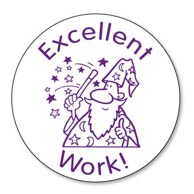 Excellent Work Wizard Stamper - Purple (25mm)