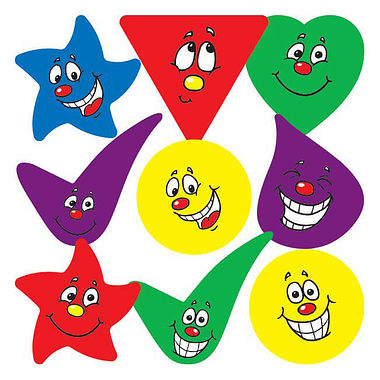Expressions Shaped Stickers - Mixed Design (30 Stickers - 18mm)