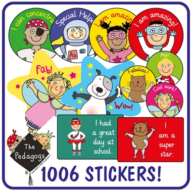EYFS Pedagogs Stickers Value Pack (1006 Stickers)