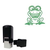 Frog Mini Stamper - Green Ink (10mm)