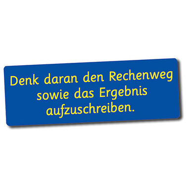German Remember to Show Your Working Out Stickers (56 Stickers - 46mm x16mm)