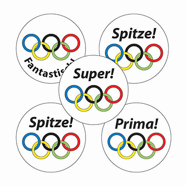 German Sports Stickers (70 Stickers - 25mm)