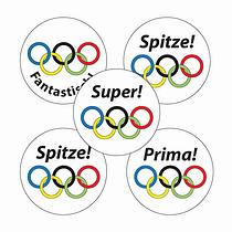 German Sports Stickers (70 Stickers - 25mm)