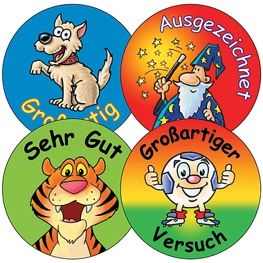 German Stickers - Mixed (35 Stickers - 37mm)