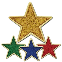 Glitter Star Badge (25mm)