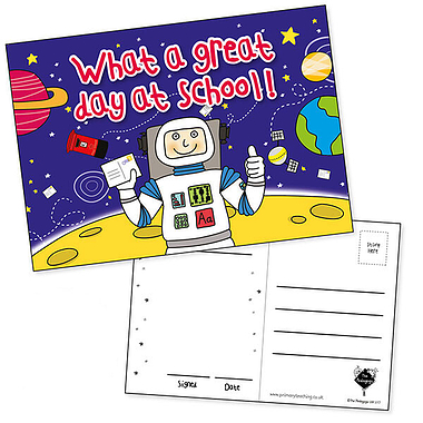 Glittery Pedagogs Postcards - What a Great Day at School (20 Postcards - A6)