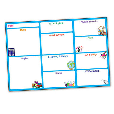 Glossy Write & Wipe Poster for Topics (A2 - 620mm x 420mm)
