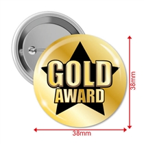 Gold Award Badges (10 Badges - 38mm)