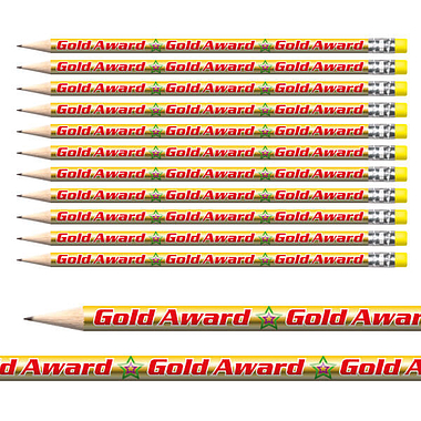 Gold Award Metallic Pencils (12 Pencils) Brainwaves