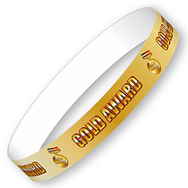 Gold Award Wristbands (10 Wristbands - 265mm x 18mm)
