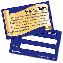 Golden Rules CertifiCARDS (10 Cards - 86mm x 54mm)