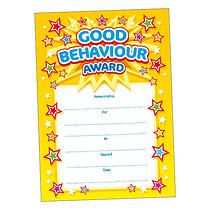 Good Behaviour Award Certificates (20 Certificates - A5) Brainwaves
