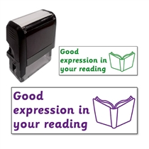 Good expression in your reading Stamper (38mm x 15mm)