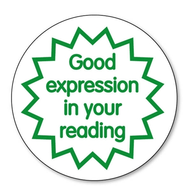 Good Expression in Your Reading Stamper - Green Ink (25mm)