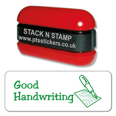 Good Handwriting Pen Stack & Stamp - Green Ink (38mm x 15mm)
