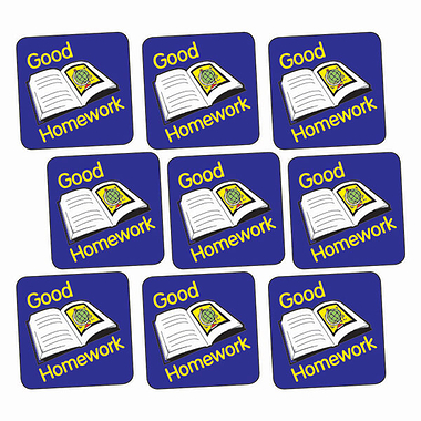 Good Homework Stickers - Book (140 Stickers - 16mm)