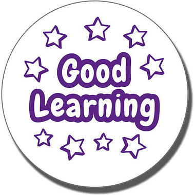 Good Learning' Stars Stamper - Purple Ink (21mm)