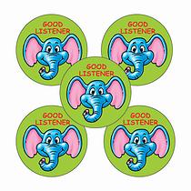 Good Listener Stickers (70 Stickers - 25mm)