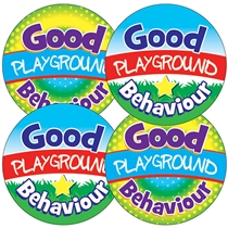 Good Playground Behaviour Stickers (35 Stickers - 37mm)