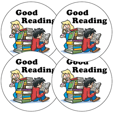 Good Reading Stickers (35 Stickers - 37mm)